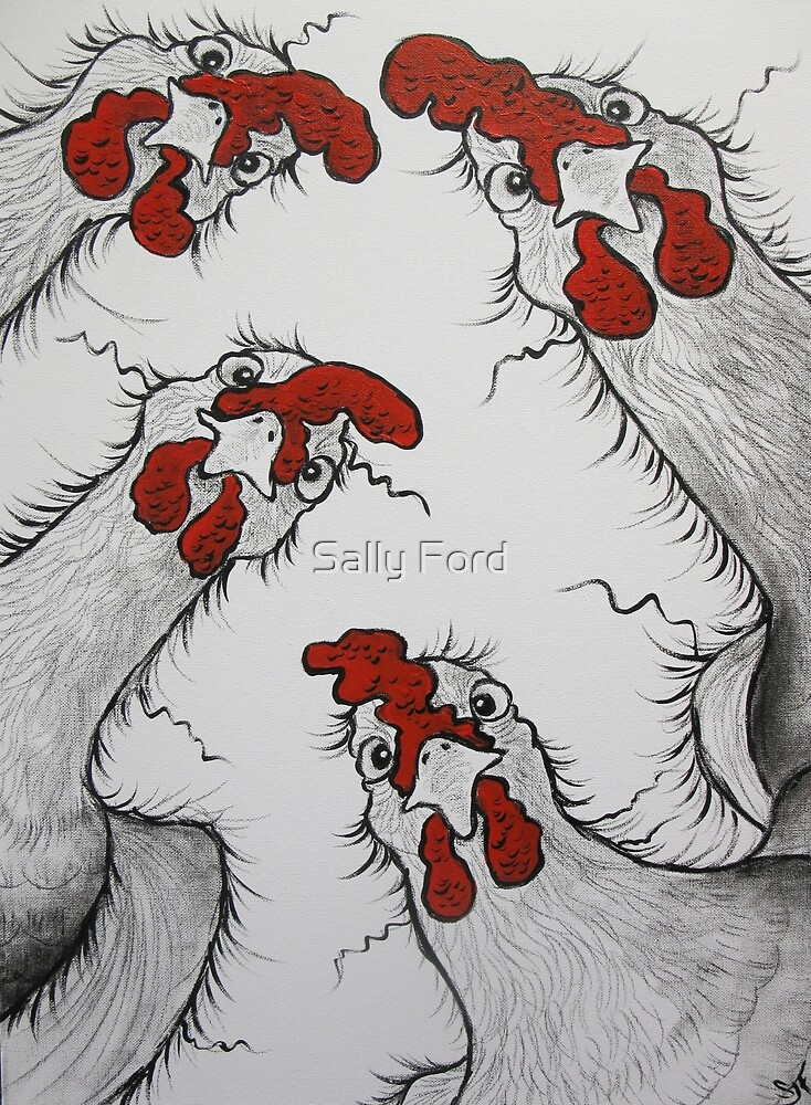 Chook Lookin'  by Sally Ford