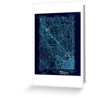 USGS TOPO Map Rhode Island RI Pawtucket 353436 1944 31680 Inverted Greeting Card