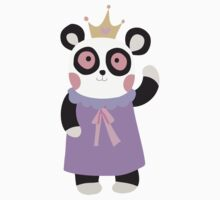 Girly Princess Panda Bear Kids Tee