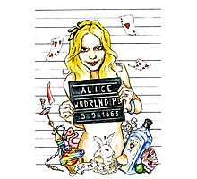 Alice in PD 5-9-1863 Photographic Print