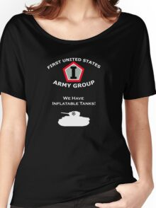 First United States Army Group (FUSAG) - We Have Tank Balloons Women's Relaxed Fit T-Shirt