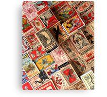 Retro Vintage Matchboxes Canvas Print