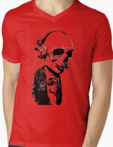 HIPSTERSKULL Mens V-Neck T-Shirt