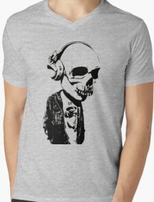 HIPSTERSKULL Mens V-Neck T-Shirt