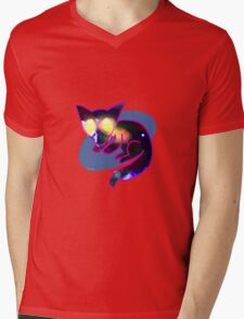 Lunchbox the Space Fox Mens V-Neck T-Shirt