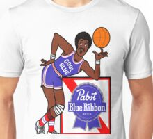 Pabst Blue Ribbon - Cool Blue Basketball Player Unisex T-Shirt