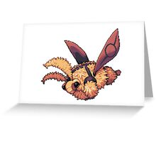 Antireen the Fuzz Moth Greeting Card