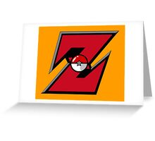 Pocket Ball Z Greeting Card