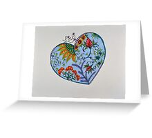 "Hearts/2 - ""Love"" Saying Greeting Card"
