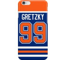 Edmonton Oilers Wayne Gretzky Away Jersey Back Phone Case iPhone Case/Skin
