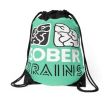 SoberBrains LOGO Drawstring Bag