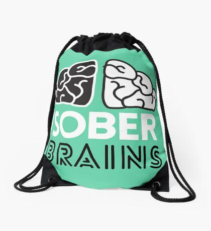 SoberBrains LOGO Drawstring Bag