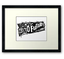 Back to the No future Framed Print