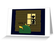 """Pokemon Pikachu """"Peekatchu"""" Greeting Card"""