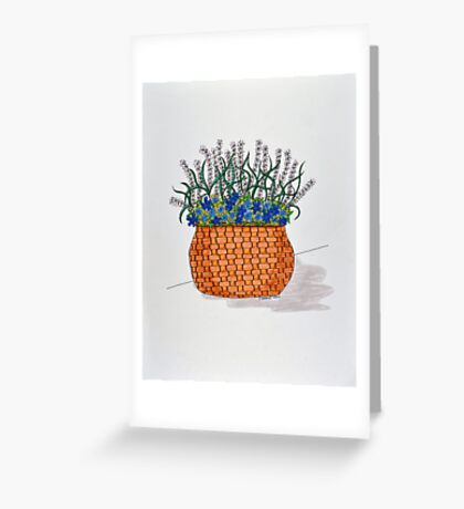 Flowers/13 - Woven Large Basket Greeting Card