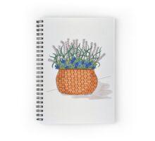 Basket of flowers Spiral Notebook