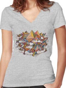Paper Mountain Women's Fitted V-Neck T-Shirt