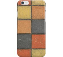 Colorful Square Sidewalk Tiles iPhone Case/Skin