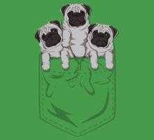 Pocket Pug One Piece - Short Sleeve