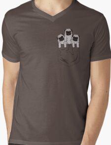 Pocket Pug Mens V-Neck T-Shirt