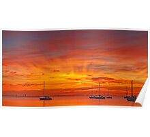 A new day - Corio Bay Poster