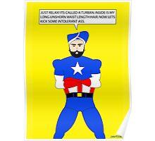 Captain America in a Turban Poster