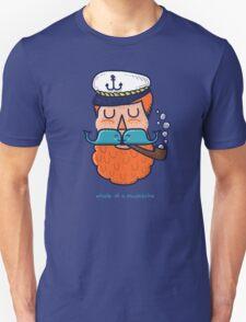 Whale of a Mustache Unisex T-Shirt