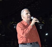 Sal Lombardo Sings National Anthem @ Razer Shark Game  by Liesl Gaesser