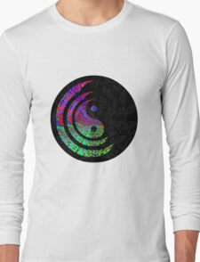 Yin Yang Hippie Balance Logo Round Psychedelic Colorful 70s Hip Long Sleeve T-Shirt