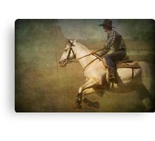 The Cowboy on a White Horse Canvas Print