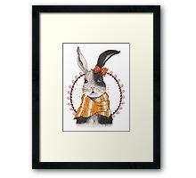 Cartoon Animals Unique Pretty Rabbit Framed Print