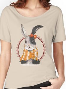 Cartoon Animals Unique Pretty Rabbit Women's Relaxed Fit T-Shirt