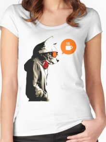 COFFEE CAT Women's Fitted Scoop T-Shirt
