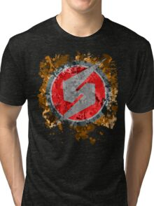 Metroid Symbol Splatter Tri-blend T-Shirt