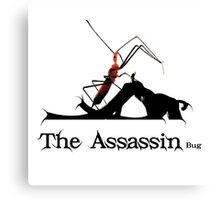Spooky Stalking Assassin Wheel Bug With Dagger Canvas Print