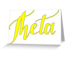 Theta Script Greeting Card