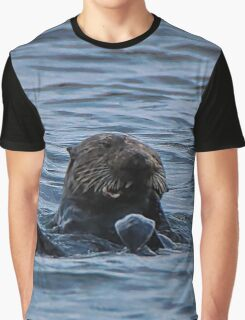 Lunch-time Sea Otter Graphic T-Shirt