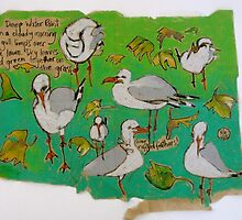 Leaves and Seagulls by Evelyn Bach