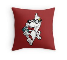 GENIUS DOG GENIUS Throw Pillow