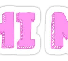 Phi Mu Block Sticker