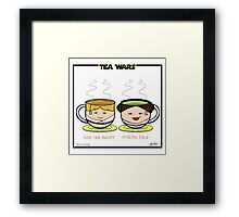 Tea Wars Framed Print