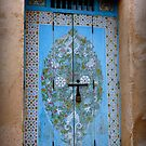 Door in the Courtyard of the Kasbah des Oudaias  by Lucinda Walter