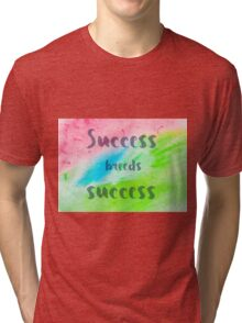Inspirational abstract water color background Tri-blend T-Shirt