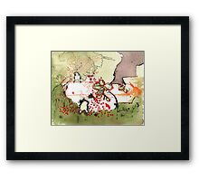 under the bodhi tree Framed Print