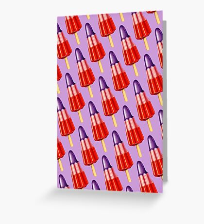 Zoom Ice Lolly Pattern 2 Greeting Card
