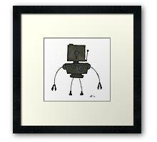 CAPSLOK the robot Framed Print