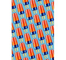 Rainbow Double Popsicle Pattern Photographic Print