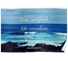 LOVE AND THE SEA Poster