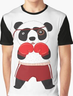Cartoon Animals Fighting Boxing Panda Bear Graphic T-Shirt