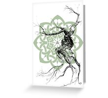 Celtic world tree ink drawing Greeting Card